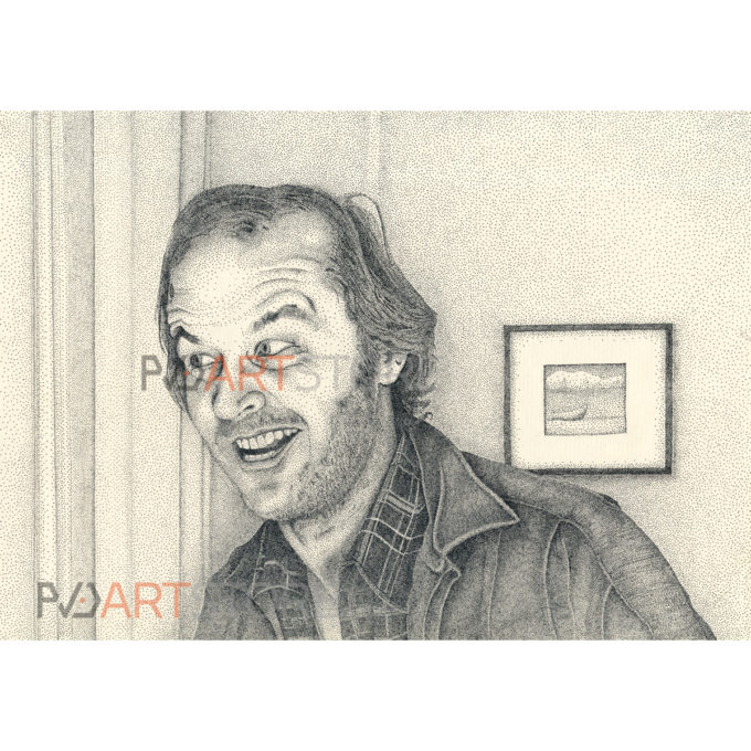 Jack Nicholson drawing Stippling Art