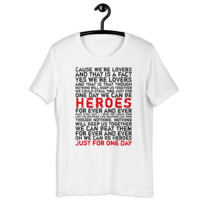 Bowies Song Lyrics Tshirt